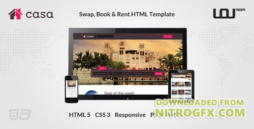 ThemeForest - Casa - Swap, Book & Rent HTML Template (Update: 10 April 14) - 6703459