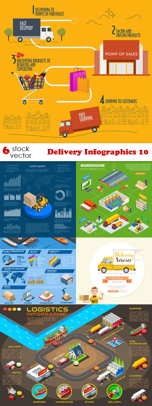 Vectors - Delivery Infographics 10