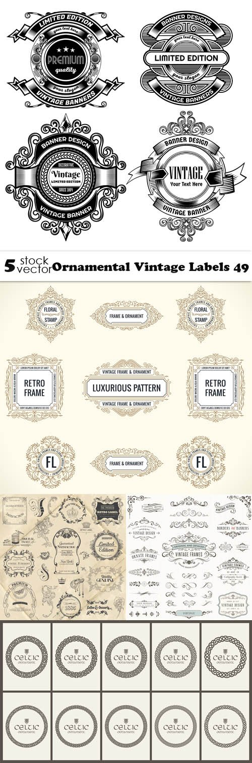 Vectors - Ornamental Vintage Labels 49
