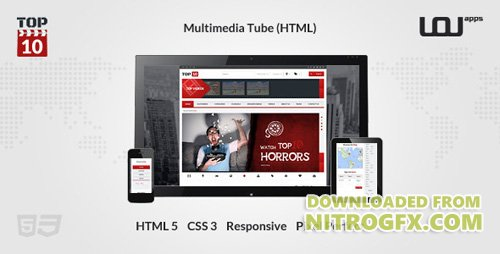ThemeForest - TOP 10 - Multimedia Tube - 25 August 15 - 5895495