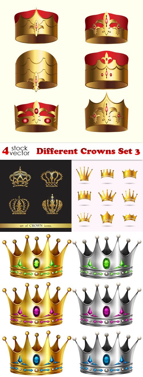 Vectors - Different Crowns Set 3