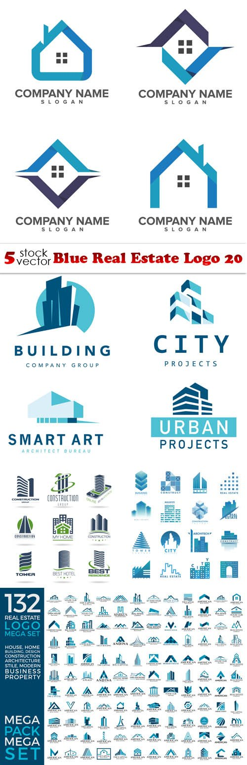 Vectors - Blue Real Estate Logo 20
