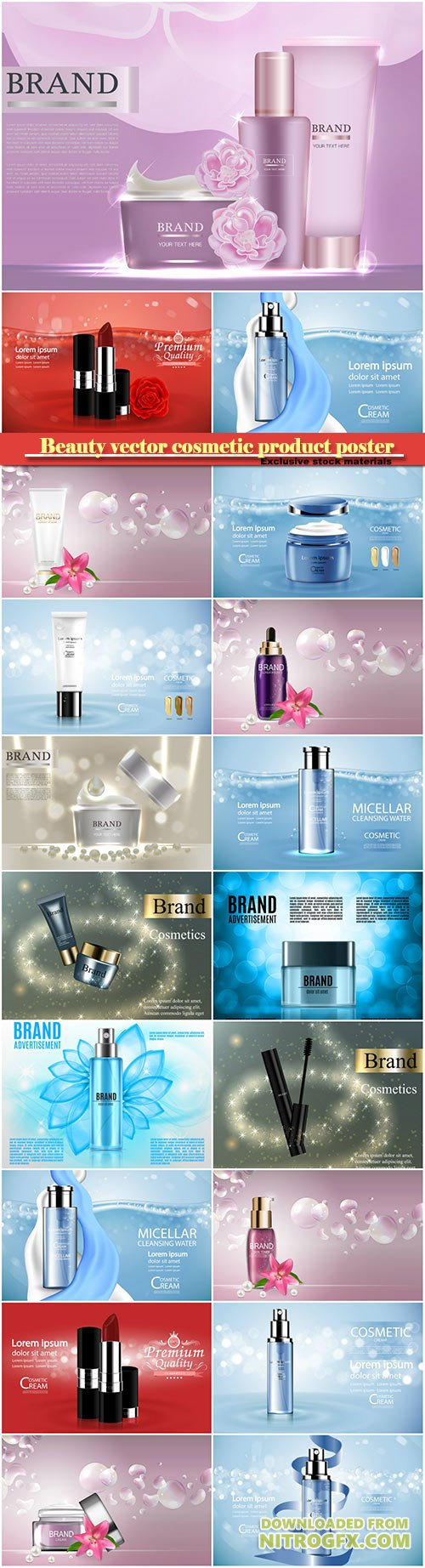 Beauty vector cosmetic product poster # 14