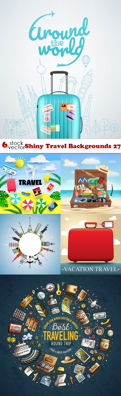Vectors - Shiny Travel Backgrounds 27