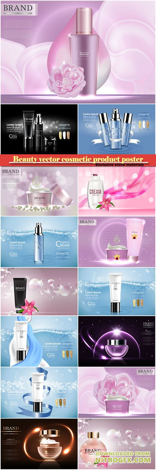 Beauty vector cosmetic product poster # 15