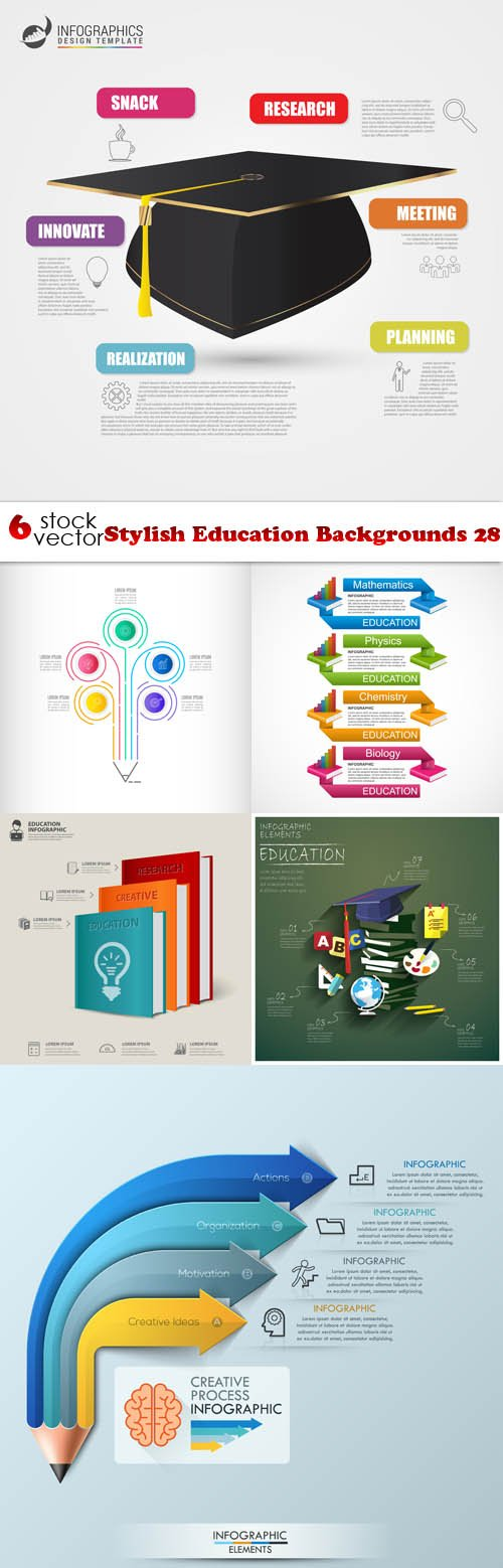 Vectors - Stylish Education Backgrounds 28