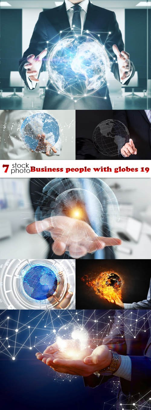 Photos - Business people with globes 19
