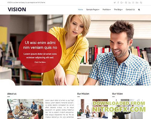 VISION - Responsive HTML Template - CM 1738733