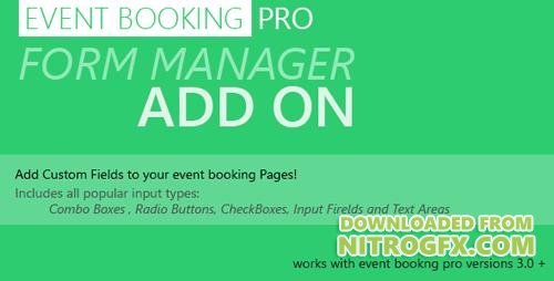 CodeCanyon - Event Booking Pro: Forms Manager Add on v1.97 - 6961692