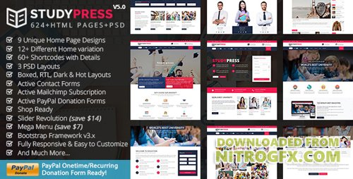 ThemeForest - StudyPress v4.2 - Best Education & Courses HTML5 Template - 17928724