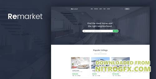 ThemeForest - Remarket v1.0 - Real Estate Template - 20368219