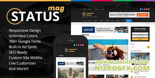 ThemeForest - Status Magazine v1.2.0 - WordPress Theme - 16958558