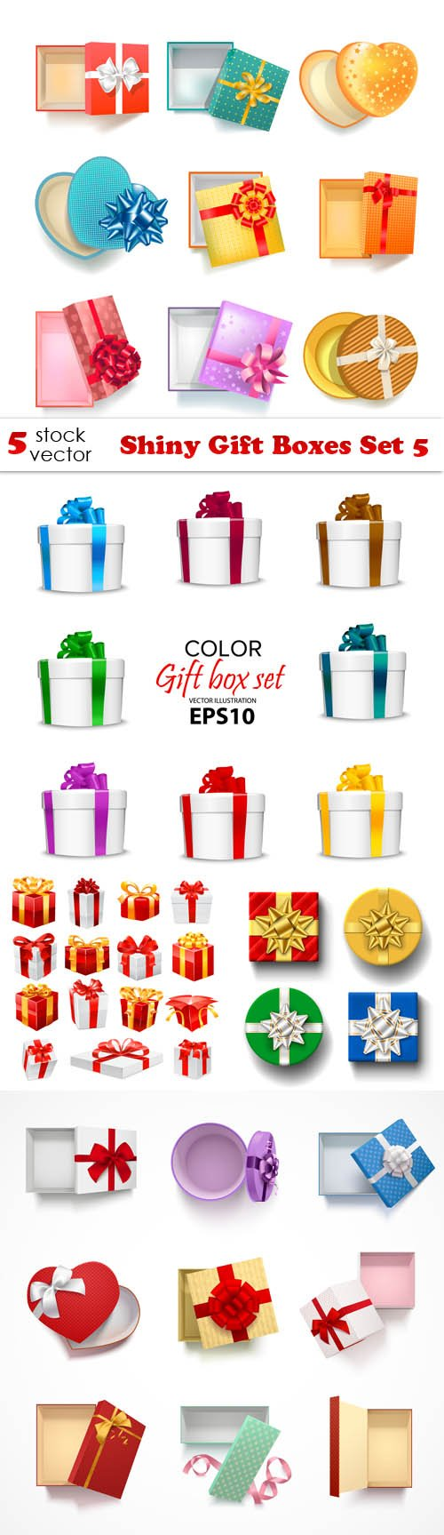 Vectors - Shiny Gift Boxes Set 5