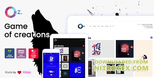 ThemeForest - OZ v1.0.2 - Game of Creations | Creative WordPress Theme - 19607798