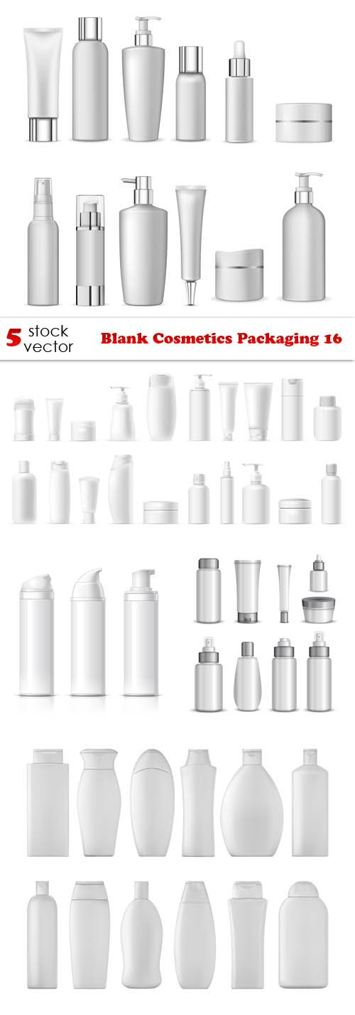 Vectors - Blank Cosmetics Packaging 16