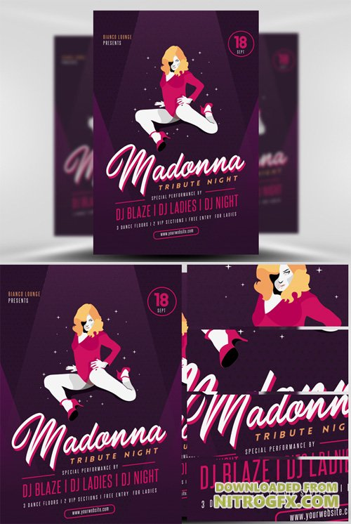 Madonna Tribute Night Flyer Template