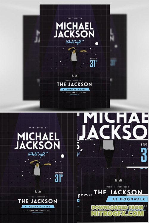 Michael Jackson Tribute Night Flyer Template