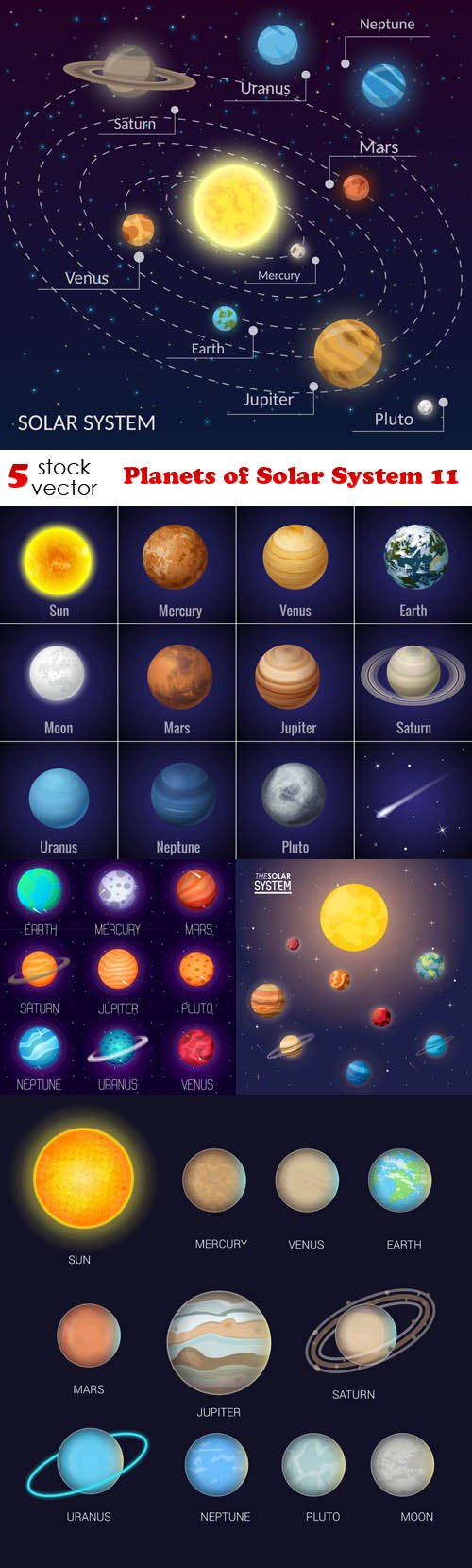 Vectors - Planets of Solar System 11