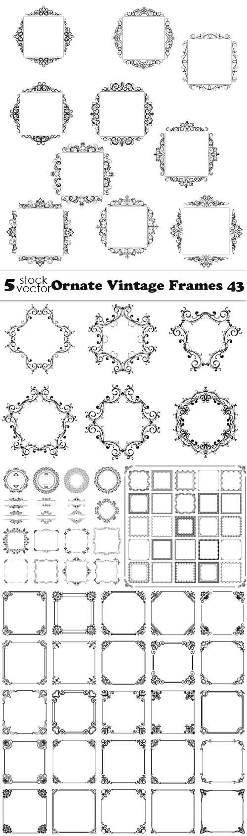 Vectors - Ornate Vintage Frames 43