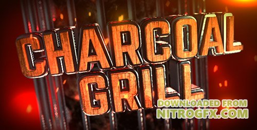 Charcoal Grill Logo Reveal - Project for After Effects (Videohiv