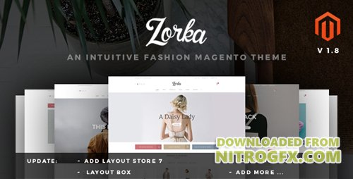 ThemeForest - ZORKA v1.8 - Wonderful Fashion eCommerce Magento Themes - 11680576