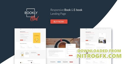 ThemeForest - Bookly v1.0 - The Perfect Landing Page, Book & Ebook. Boost Your Conversions. - 20466372