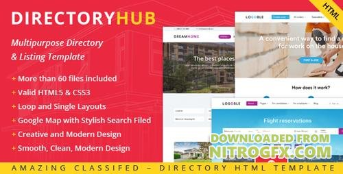 ThemeForest - DirectoryHub v1.0 - Multipurpose Bootstrap 4 Directory and Listing HTML Template - 20442826
