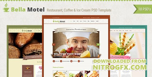 ThemeForest - Bella v1.0 - Restaurant & Bakery PSD - 5559073