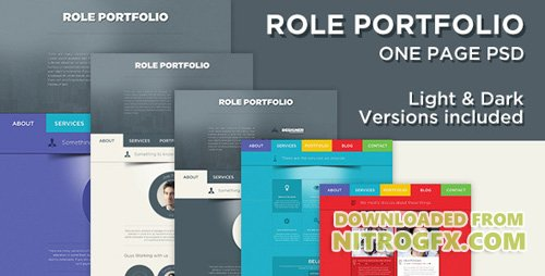 ThemeForest - Role v1.0 - One Page Portfolio PSD Template - 5100247