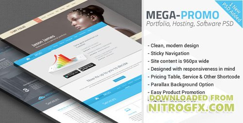 ThemeForest - Mega v1.0 - Hosting, Software Promotion PSD - 5214289