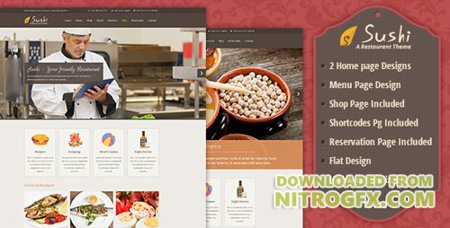 ThemeForest - Sushi v1.0 - Restaurant PSD - 5753163