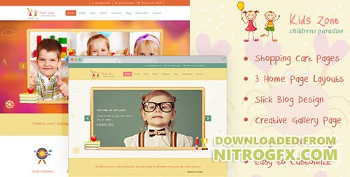 ThemeForest - Kids Zone v1.0 - Childern PSD - 6448823