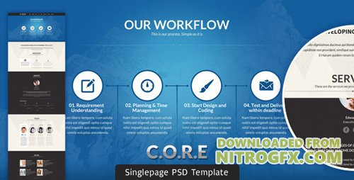ThemeForest - CORE v1.0 - Multipurpose Single Page PSD Template - 3838662