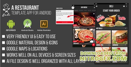 CodeCanyon - Deli v1.0 - Restaurant UI Template App for Android - 14351256