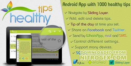 CodeCanyon - Healthy Tips v1.0 - Android Template - 6634568