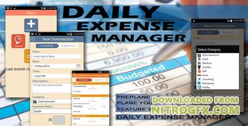 CodeCanyon - Expense Manager v1.0 - Android Full Application - 9653214