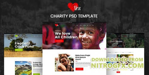 ThemeForest - THX v1.0 - Charity & donation PSD Template - 20227059