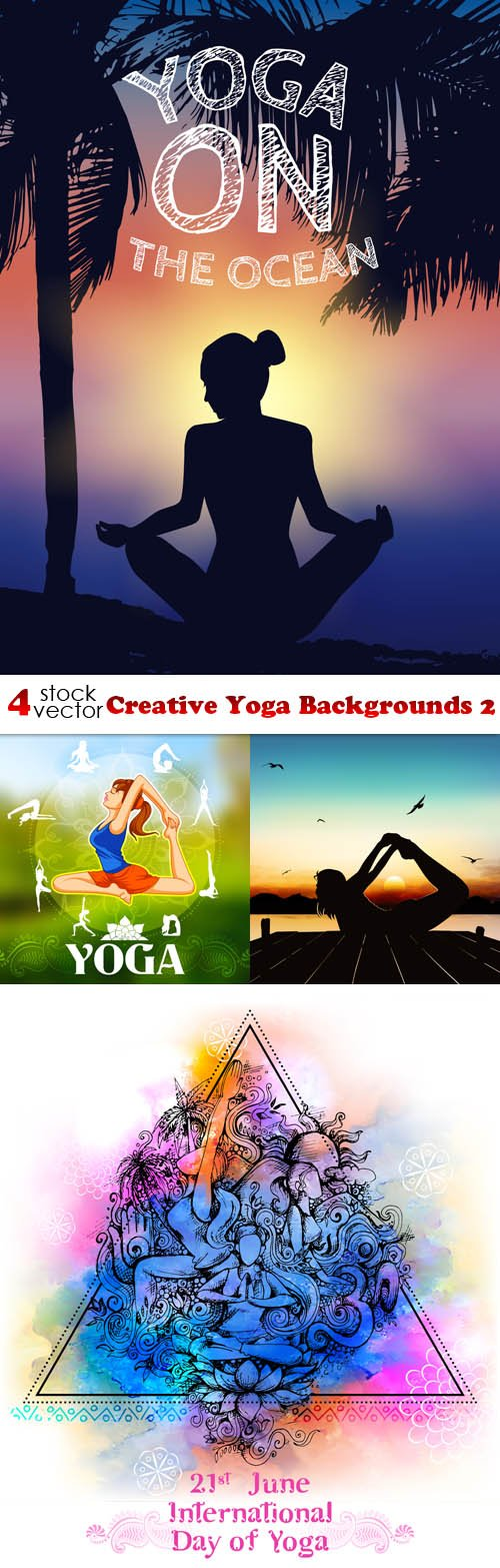 Vectors - Creative Yoga Backgrounds 2