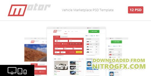 ThemeForest - Motor - Vehicle Marketplace PSD Template (Update: 6 November 15) - 4723480