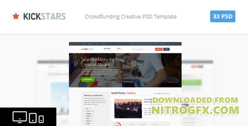 ThemeForest - Kickstars - Crowdfunding PSD Template (Update: 6 November 15) - 4598960