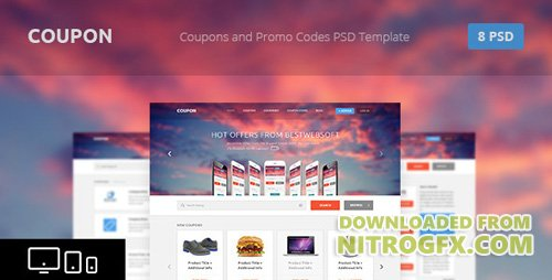 ThemeForest - Coupon - Coupons and Promo Codes PSD Template (Update: 6 November 15) - 4367571