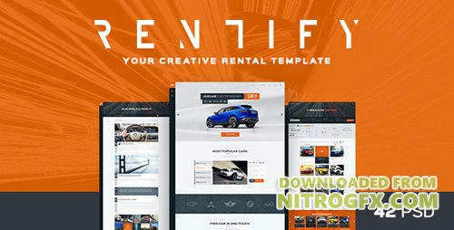 ThemeForest - Rentify v1.0 - Car Rental & Booking PSD Template - 15345246