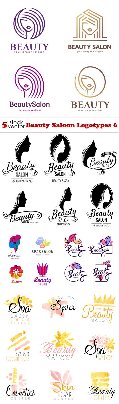 Vectors - Beauty Saloon Logotypes 6