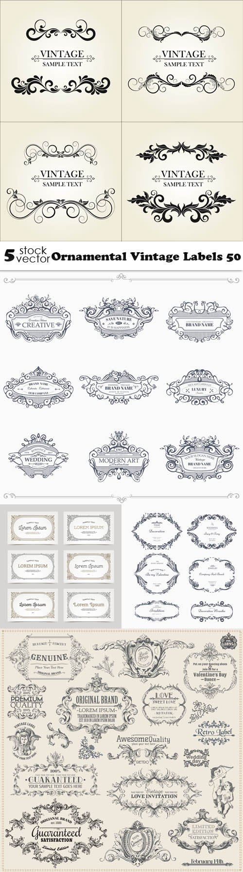 Vectors - Ornamental Vintage Labels 50