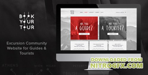 ThemeForest - Book Your Tour v1.0 - Excursion Community PSD Template - 12956478