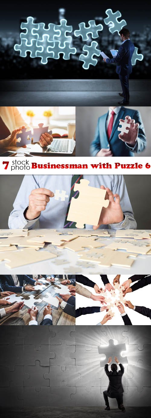 Photos - Businessman with Puzzle 6