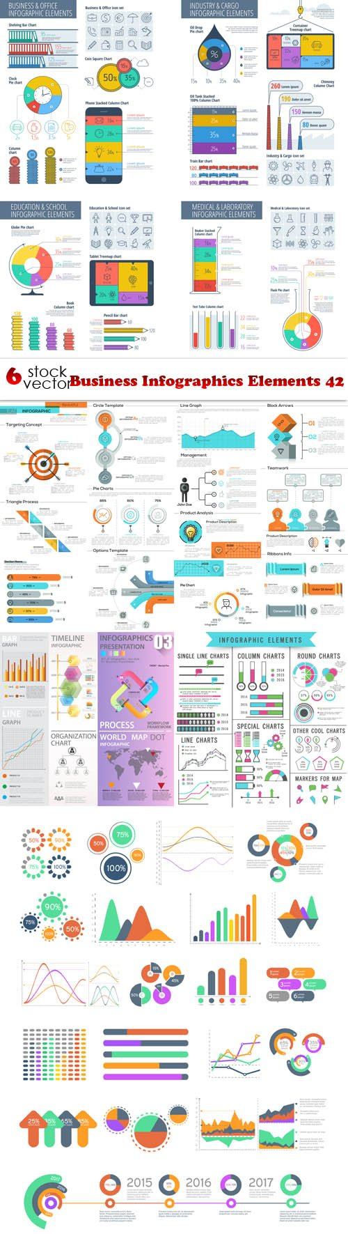 Vectors - Business Infographics Elements 42