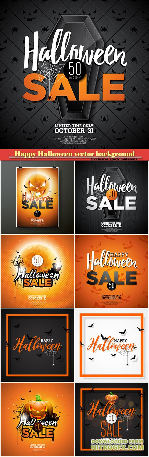 Happy Halloween vector sale background