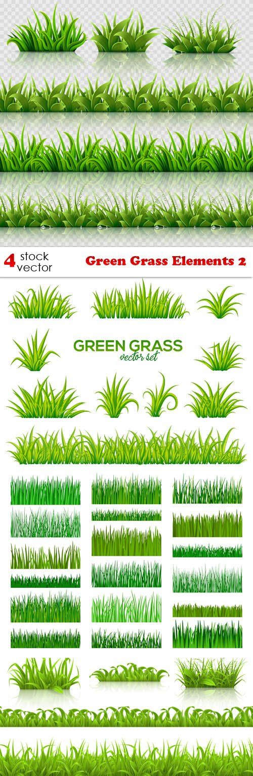 Vectors - Green Grass Elements 2