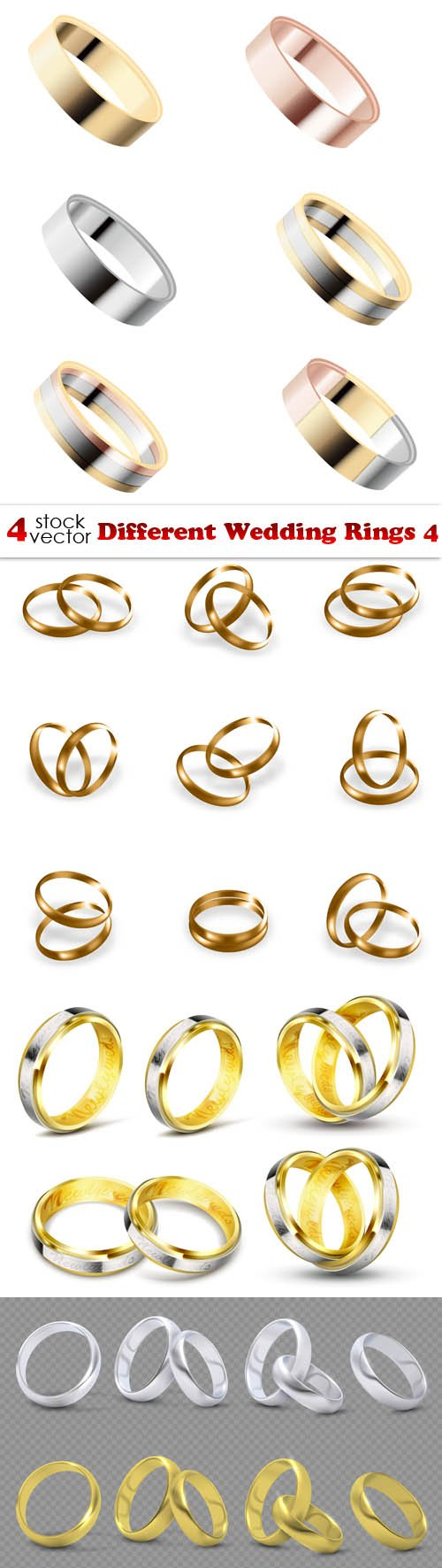 Vectors - Different Wedding Rings 4